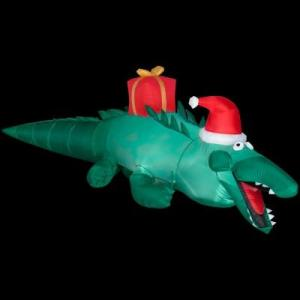Just put it in Santa's bathtub, and we've got inflatable holiday hijinks!