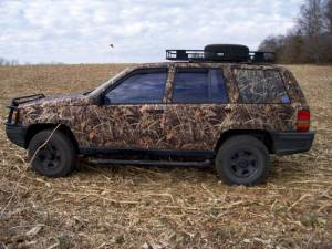 """Camo-SUV for muddin', gettin' kids to soccer practice,"""