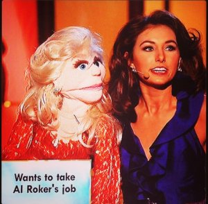 Wait, the puppet wants Al Rocker's job on the hit ABC TV program The Today Show?