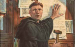 """These are my 95 Theses. 93 are about Catholicism, the other 2 are for Little People. Seriously guys, not cool."""